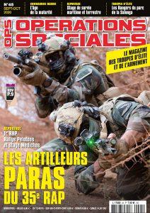 Couverture Opérations Spéciales numéro 45 Septembre Octobre 2020 Les Artilleurs Paras du 35e RAP